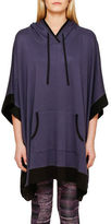 DKNY French Terry Hooded Poncho
