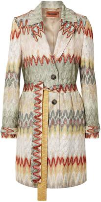 Missoni Belted Crochet-knit Coat