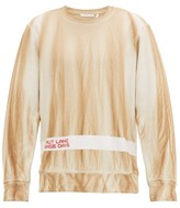 Helmut Lang Strange Days Cotton-jersey Sweatshirt - Mens - Beige Multi