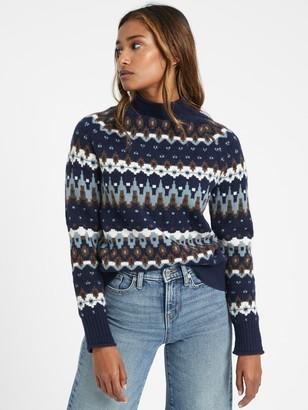 Banana Republic Fair Isle Mock-Neck Sweater