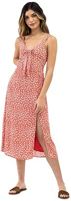 Lost + Wander Madison Maxi Dress (Coral) Women's Clothing
