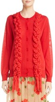 Simone Rocha Women's Felted Plait Merino, Silk & Cashmere Button Cardigan