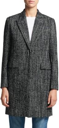Theory Square Tweed Coat