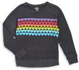 Flowers by Zoe Girls 7-16 Heart Sweatshirt