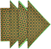 Found Object S/4 Shweshwe Napkins, Green