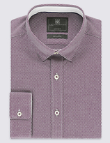 Limited Edition Pure Cotton Tailored Fit Textured Dobby Shirt