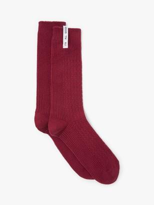 It's All Good Folk Organic Cotton Blend Plain Texture Socks