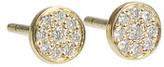 Jennifer Meyer Diamond Circle Stud Earrings in White