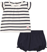 Petit Bateau Navy Stripe Tee and Bloomers Set