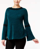 Style&Co. Style & Co Embroidered Chenille Sweater, Created for Macy's