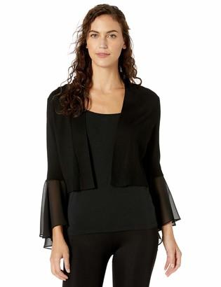 Ronni Nicole Women's Sheer Bell Sleeve Shrug