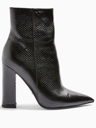 Topshop Harri Point Toe High Heel Boots - Black