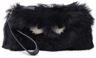 Anya Hindmarch Creeper Genuine Shearling Wristlet Clutch