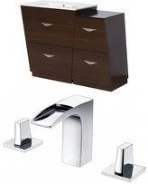American Imaginations Vee V-Shape Floor Mount 8-in. o.c. Center Faucet Vanity Set