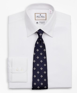 Brooks Brothers Luxury Collection Madison Classic-Fit Dress Shirt, Franklin Spread Collar Herringbone