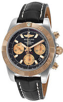 Breitling CB014012-BA53-428X Men's Chronomat Auto Black Genuine Leather and