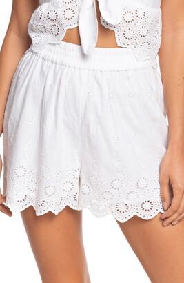 Roxy Seaside City Cotton Eyelet Shorts