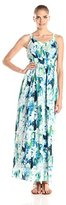 Andrew Marc Women's Sleeveless Monet Floral Maxi Dress