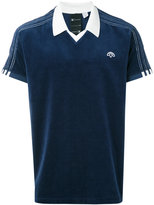 Adidas Originals By Alexander Wang - velour logo polo shirt - unisex - Cotton/Polyester/Spandex/Elastane - L