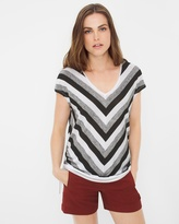 White House Black Market Side-Drawstring Dolman Top