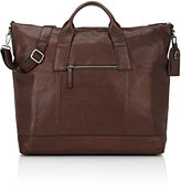 Barneys New York MEN'S DOUBLE-HANDLE TOTE BAG-BROWN