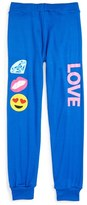 Flowers by Zoe 'Love' Emoji Patch Sweatpants (Big Girls)