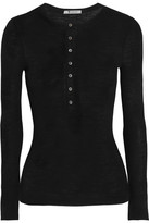 Alexander Wang Ribbed Wool Top - Black