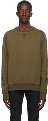 Naked and Famous Denim Green Heavyweight Terry Crewneck