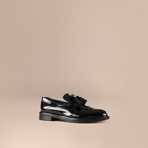 Burberry Tassel Detail Leather Loafers