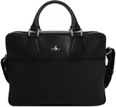 Vivienne Westwood Leather Laptop Bag Black