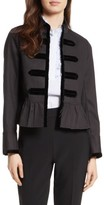 Kate Spade Women's Velvet Trim Military Jacket