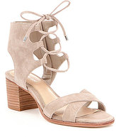 Gianni Bini Kolemann Lace-Up Block-Heel Sandals