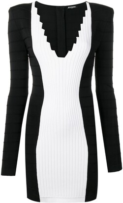 Balmain V-Neck Fitted Dress