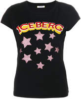 Iceberg stars logo patch T-shirt