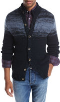Isaia Striped Cashmere Cardigan