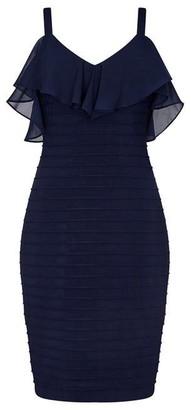 Adrianna Papell Chiffon And Jersey Sheath Dress