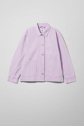 Weekday Dual Lilac Denim Jacket - Purple