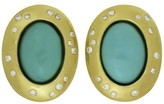 Tiffany & Co. Angela Cummings 18K Yellow Gold Diamond Turquoise Clip-on Earrings