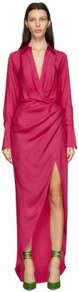 GAUGE81 Pink Silk Naha Long Dress