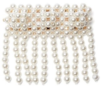 Shrimps Penelope Fringed Faux-pearl Barrette - Womens - Pearl