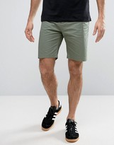 Penfield Yale Solid Chino Shorts Straight Tricolour Waist In Green
