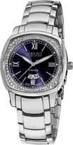 August Steiner Women's ASA816BU Day Date Diamond Swiss Quartz Watch