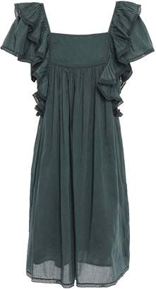 Sea Bettina Ruffled Lace-trimmed Cotton Mini Dress