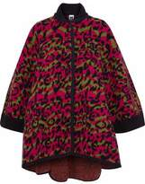 M Missoni Jacquard-Knit Wool Cape
