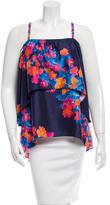 Tanya Taylor Silk Floral Print Top w/ Tags