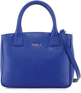 Furla Camilla Small Leather Tote Bag, Blue Laguna