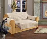 Elegant Comfort REVERSIBLE QUILTED Furniture Protector- Special Treatment Microfiber As soft as Egyptian Cotton, Natural Love Seat