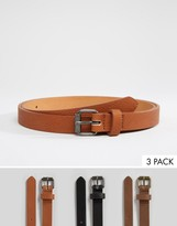 Asos Skinny Belt 3 Pack SAVE