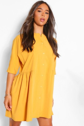 boohoo 3/4 Sleeve Shirt Dress