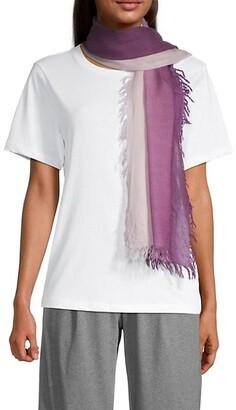 Eileen Fisher Ombre Wool Lightweight Scarf